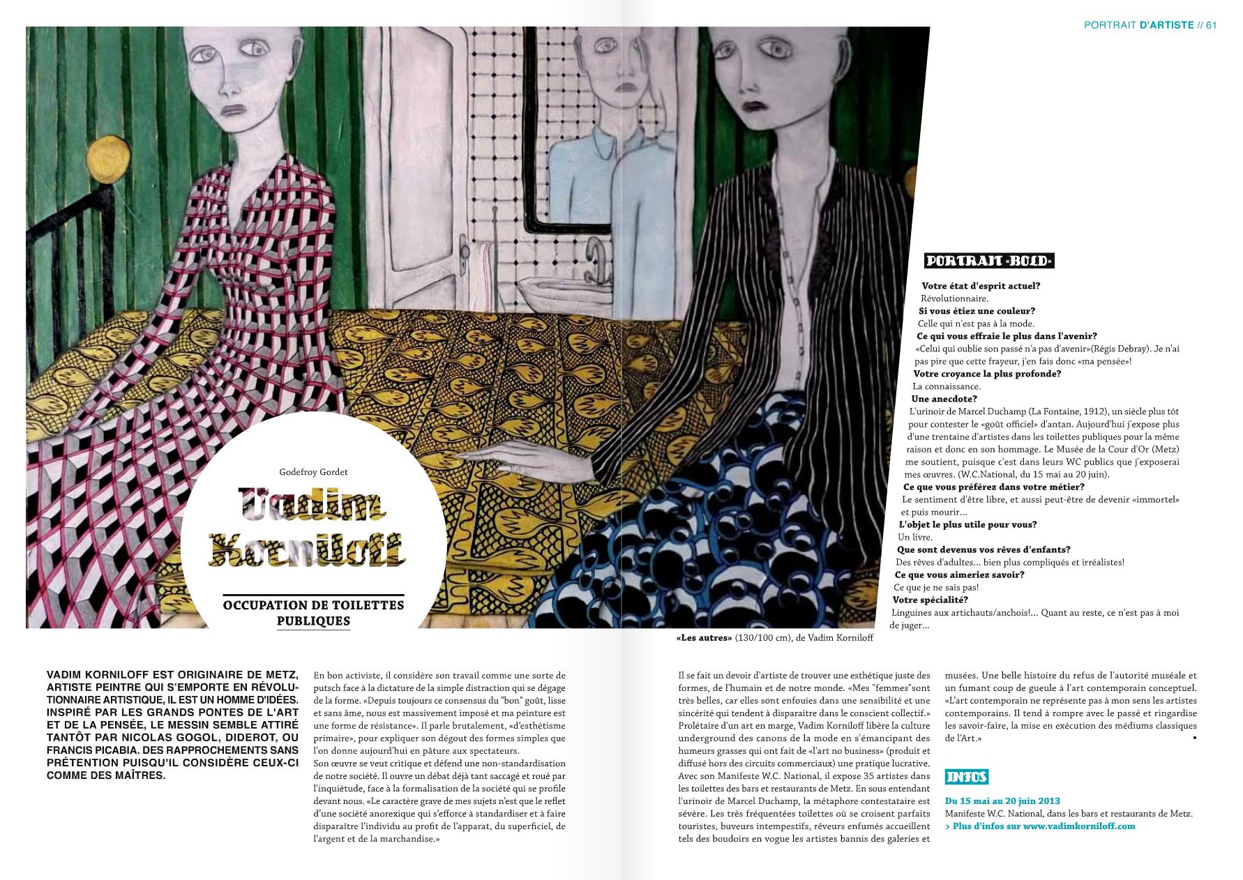 BOLD article JUIN 2013