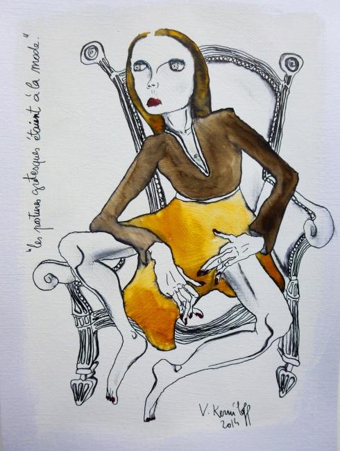 Les Postures Grotesques Etaient À La Mode