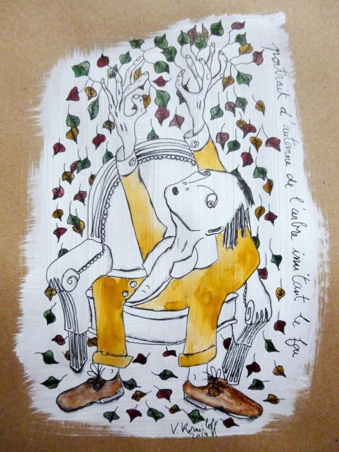 Portrait D'automne De L'arbre Imitant Le Fou